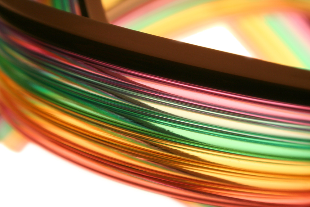 multi color ribbon plastic tubing