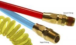 Flexeel - Polyurethane Coiled Hose with Reusable Fittings