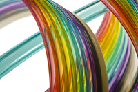 rainbow extruded tubing