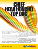 Marketing Campaign Collateral: Chief, Head Honcho and Top Dog